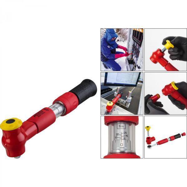 "HAZET 5108VDE VDE Torque Wrench 1/4"" drive 2-10 Nm"
