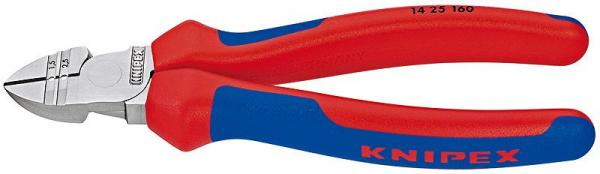 Knipex 1425160 Diagonal Insulation Stripper chrome plated with multi-component grips 160 mm