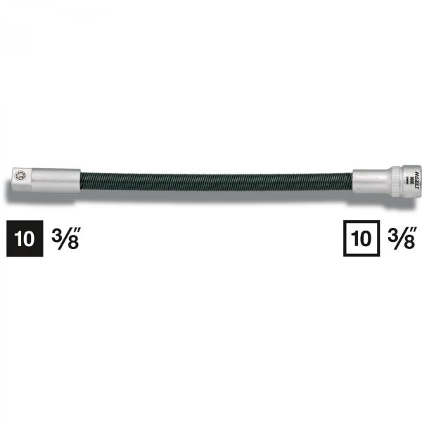 Hazet 8830 Flexible Extension · Square, hollow 10 mm (3/8 inch) · Square, solid 10 mm (3/8 inches) ·