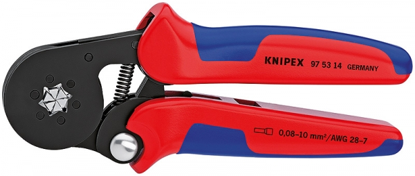 Knipex 975314SB Self-Adjusting Crimping Pliers for End Sleeves (ferrules) burnished 180 mm