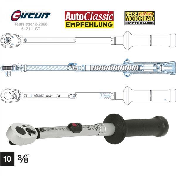 "Hazet 6111-1CT Torque Wrench 3/8"" drive 20-120 Nm"
