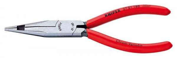 Knipex 2701160 Snipe Nose Pliers with centre cutter (Telephone Pliers) plastic coated 160 mm