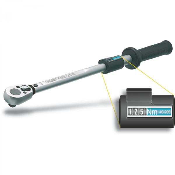 "Hazet 5123-2CLT Torque Wrench 1/2"" drive 60-320 Nm"