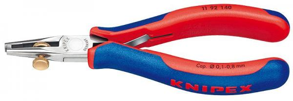 Knipex 1192140 Electronics Wire Stripper with multi-component grips 140 mm