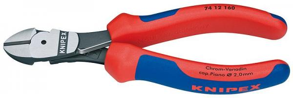 Knipex 7412160 High Leverage Diagonal Cutter black atramentized 160 mm