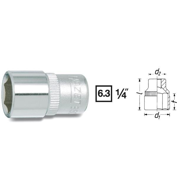 "Hazet 850X-7 1/4"" drive socket 7 mm"