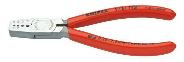 Knipex 9761145F Crimping Pliers for end sleeves (ferrules) plastic coated 145 mm