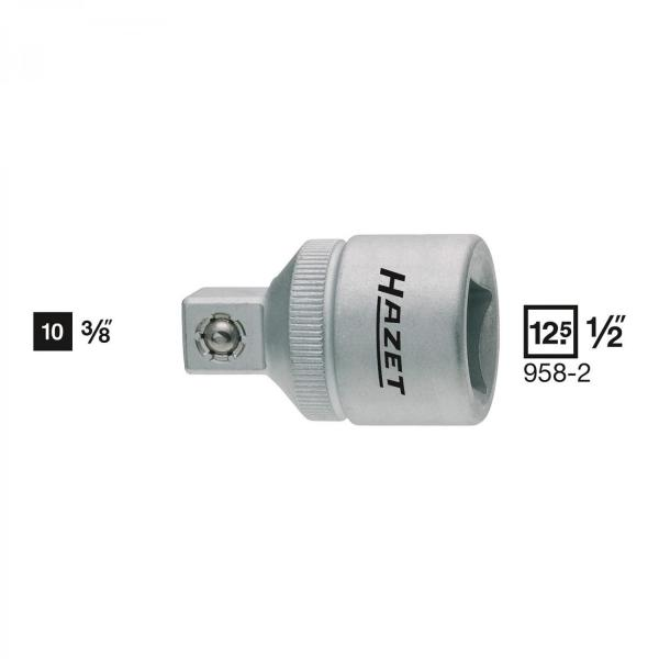 "Hazet 958-2 Adapter 1/2"" - 3/8"""