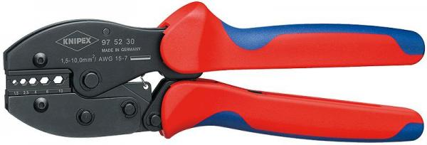 Knipex 975230 KNIPEX PreciForce® Crimping Pliers burnished with multi-component grips 220 mm