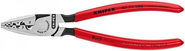 Knipex 9771180 Crimping Pliers for end sleeves (ferrules) plastic coated 180 mm
