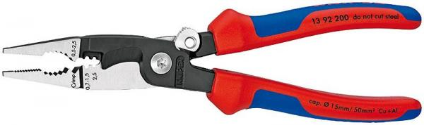 Knipex 1392200 Pliers for Electrical Installation black atramentized 200 mm