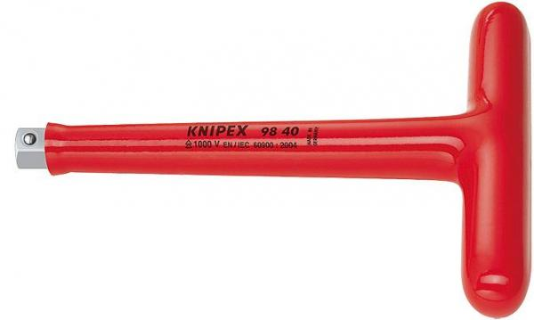 """Knipex 9840 T-Handle Drive with driving square 1/2"""" 200 mm"""