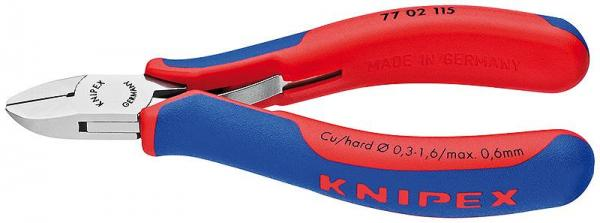 Knipex 7702115 Electronics Diagonal Cutter with multi-component grips 115 mm