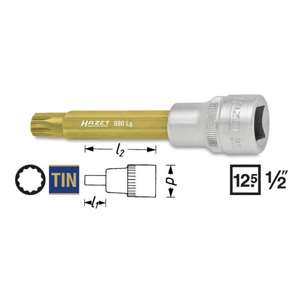 "Hazet 990LG 1/2"" drive XZN sockets"