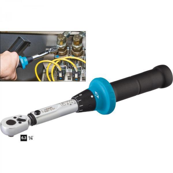 "Hazet 5107-2CT Torque Wrench 1/4"" drive 1-9 Nm"
