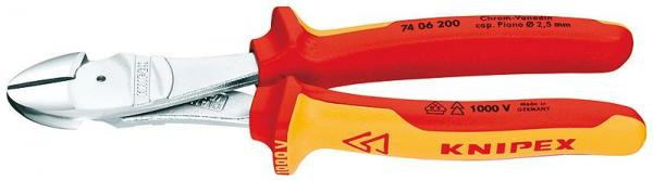 Knipex 7406200 High Leverage Diagonal Cutter chrome plated 200 mm