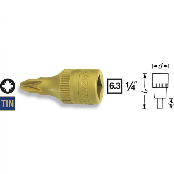 "Hazet 8507-PZ2 1/4"" Pozidriv Screwdriver Socket"
