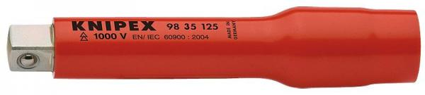 """Knipex 9835125 Extension Bar with internal/external square 3/8"""" 125 mm"""