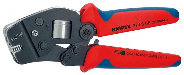 Knipex 975308 Self-Adjusting Crimping Pliers for End Sleeves (ferrules) burnished 190 mm