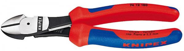 Knipex 7412180 High Leverage Diagonal Cutter black atramentized 180 mm