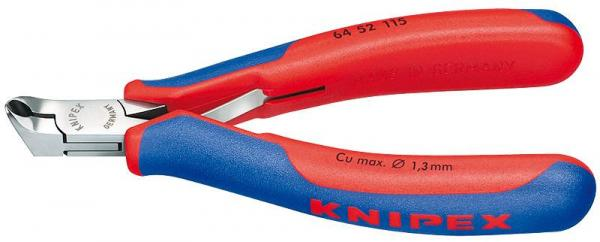 Knipex 6452115 Electronics End Cutting Nipper with multi-component grips 115 mm
