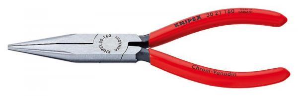Knipex 3021160 Long Nose Pliers black atramentized plastic coated 160 mm