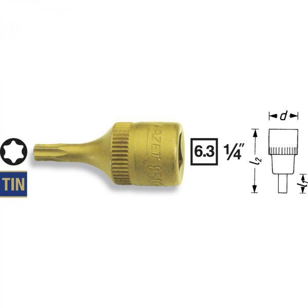 "Hazet 8502-T15 1/4"" TORX® Screwdriver Socket"