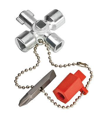 Knipex 001102 Control Cabinet Key for all standard cabinets and shut-off systems 44 mm