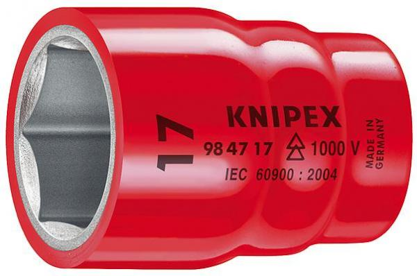 """Knipex 984718 Hexagon Socket for hexagonal screws with internal square 1/2"""""""