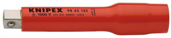 """Knipex 9845125 Extension Bar with internal/external square 1/2"""" 125 mm"""