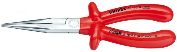 Knipex 2617200 Snipe Nose Side Cutting Pliers chrome plated 200 mm