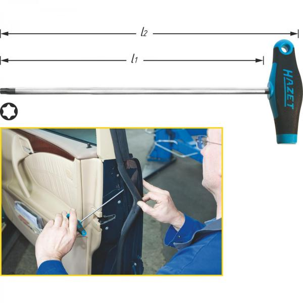 Hazet 828Lg-T Long TORX® Screwdriver with T-Handle