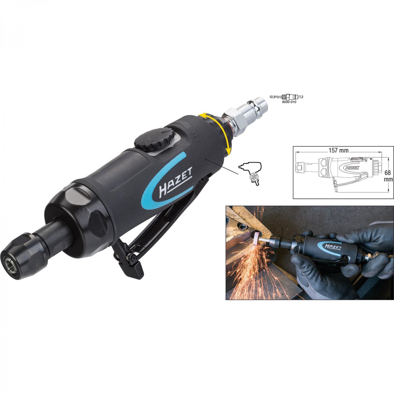 HAZET 9032M Pneumatic Micro grinder  for polishing burnishing and deburring