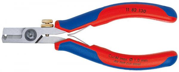 Knipex 1182130 Electronics Wire Stripping Shears with multi-component grips 130 mm