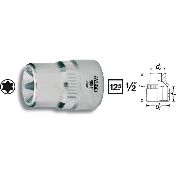 "Hazet 900-E10 1/2"" drive TORX® socket"