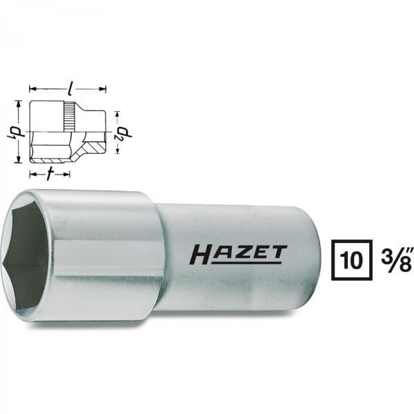 "Hazet 880AMGT Spark Plug Socket for 5/8"" 16mm spark plugs"