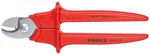 Knipex 9506230 Cable Shears plastic insulated, VDE-tested 230 mm