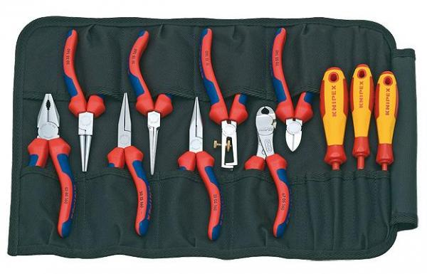 Knipex 001941 Tool Roll 11 parts
