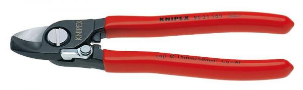 Knipex 9521165 Cable Shears with opening spring plastic coated 165 mm