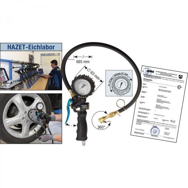 HAZET Tyre inflator, calibrated 9041-2CERT