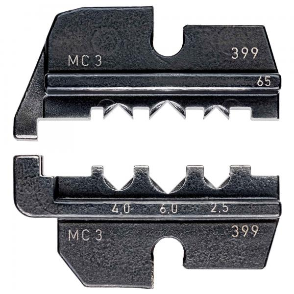 Knipex 974965 Crimping dies for solar cable connectors MC3 (Multi-Contact)