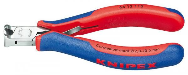 Knipex 6412115 Electronics End Cutting Nipper with multi-component grips 115 mm