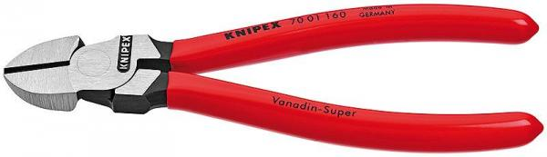 Knipex 7001180 Diagonal Cutter black atramentized plastic coated 180 mm