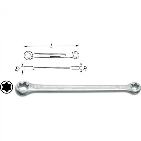 Hazet TORX® double box-end wrench 609-E10XE12