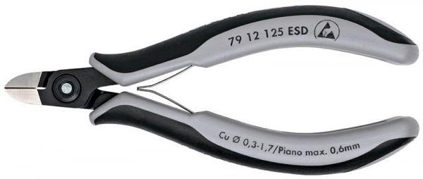 Knipex 7912125ESD Precision Electronics Side Cutter ESD burnished 125 mm