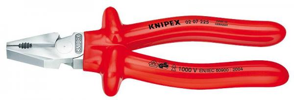 Knipex 0207225 High Leverage Combination Pliers chrome plated 225 mm