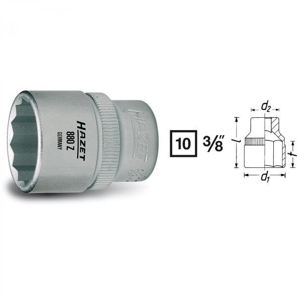 "Hazet 880Z 3/8"" drive 12-point socket"