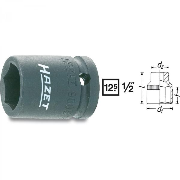 "Hazet 900S-19 1/2"" drive 6-point impact socket"