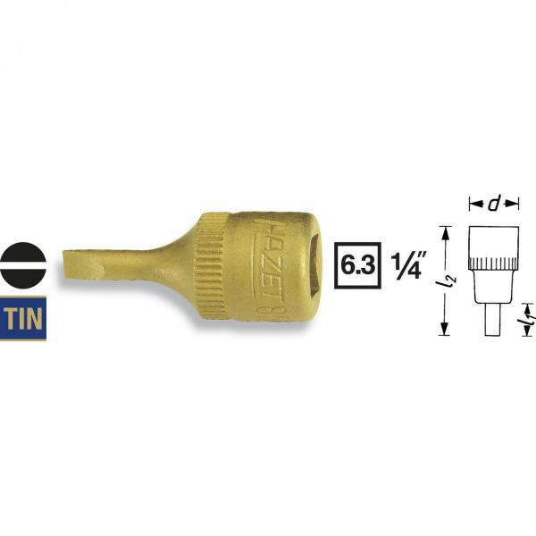 "Hazet 8503-0.8x4.0 1/4"" Flatblade Screwdriver Socket"