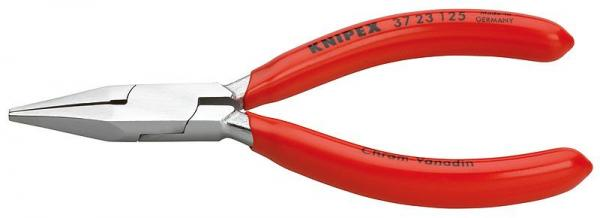 Knipex 3723125 Flat Nose Pliers for precision mechanics chrome plated plastic coated 125 mm